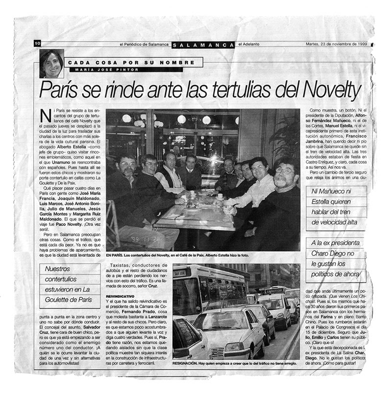 Noticia Contertulios Novelty