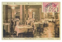 Postal Hotel Restaurant Novelty años 70