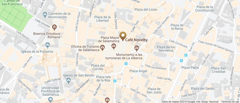 localización Novelty Plaza Mayor de Salamanca